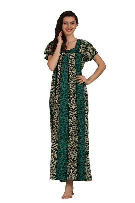 2fcb27b5d Cotton Printed Night Gowns Wholesale Nighties Maxi Dresses Low Price Online