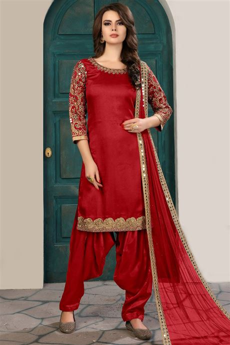 Designer Classic Traditional Patiala Salwar Kameez Catalogue Supplier In Canada