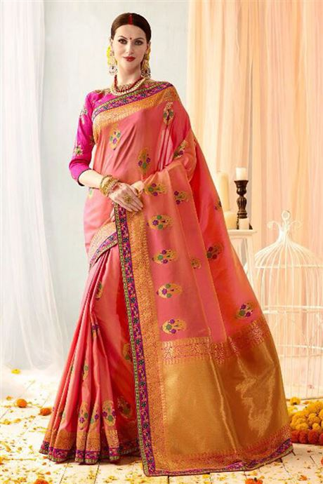 Factory Price Banarsi Silk Jaquard Hand Work Saree ...