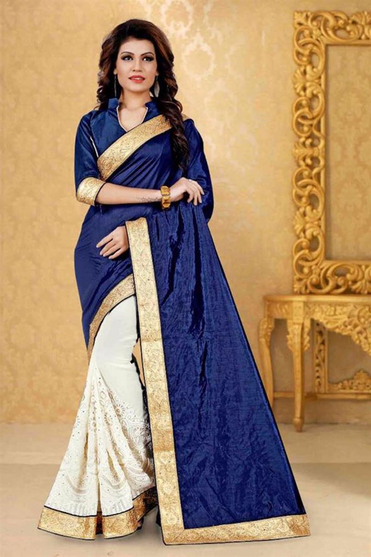 254ccebdc7d Awesome-Navy-Blue-Georgette-Fabric-Wholesale-Ethnic-Indian-Wear -Saree-WM-9310 1.jpeg