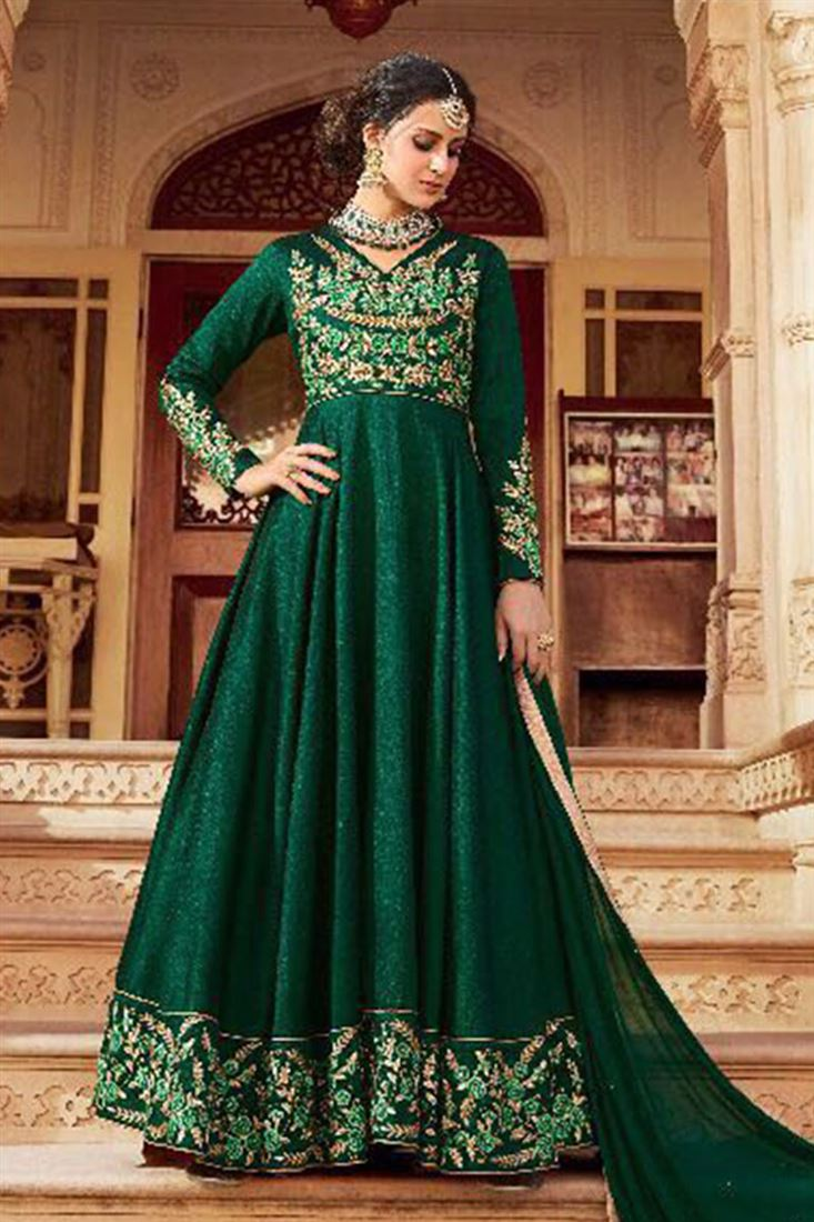 Beauteous Italian Silk Embroidered Work Semi Stitched Salwar Kameez In Qatar