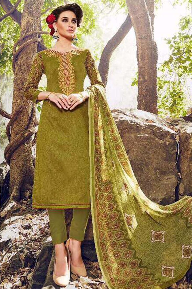 Beautifull Cotton Fabric Wholesale Printed Salwar Kameez Catloge Supplier in Mauritius