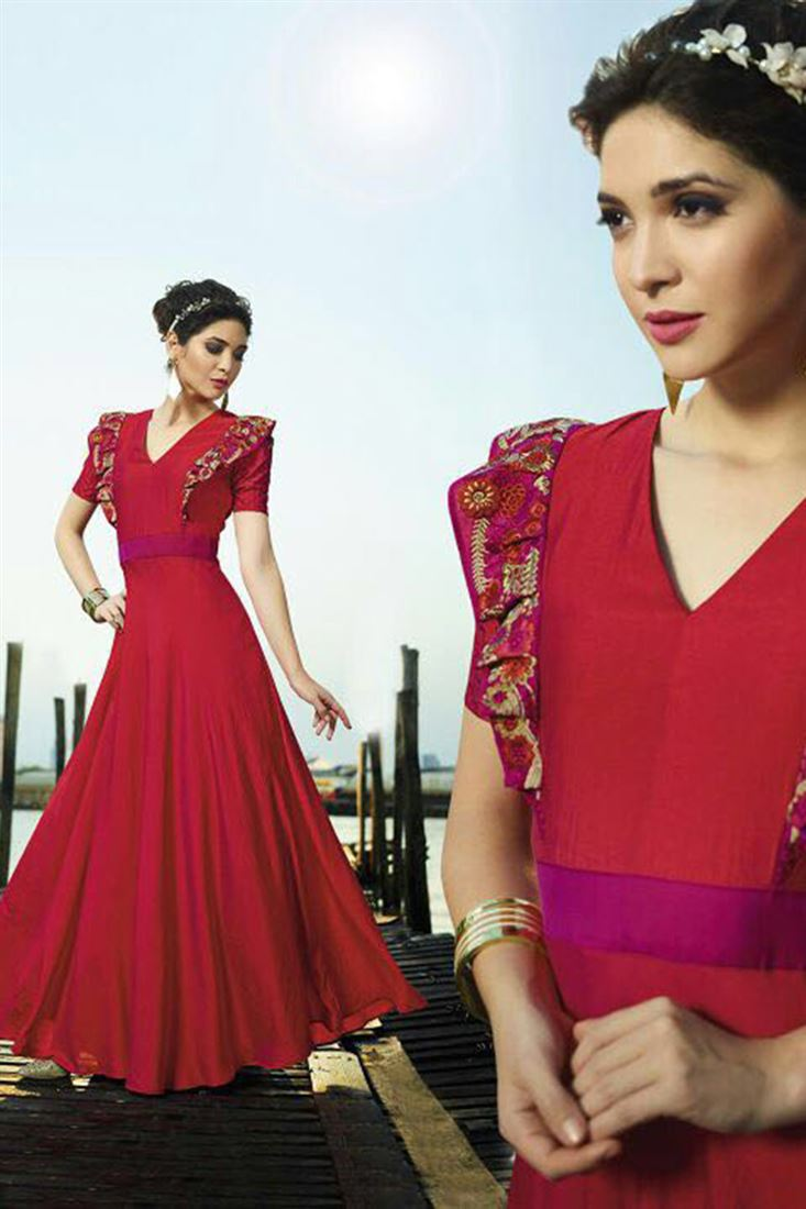 Best Quality Satin Silk Fabric Wholesale Embroidered Kurti Catlog Manufacturer in Nepal
