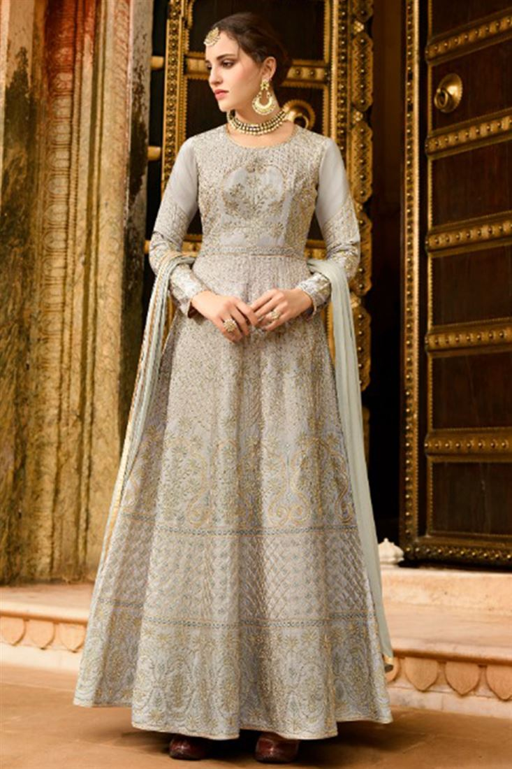Best Quality Silk Wholesale Embroidered Gown Catalog Wholesaler In Dubai
