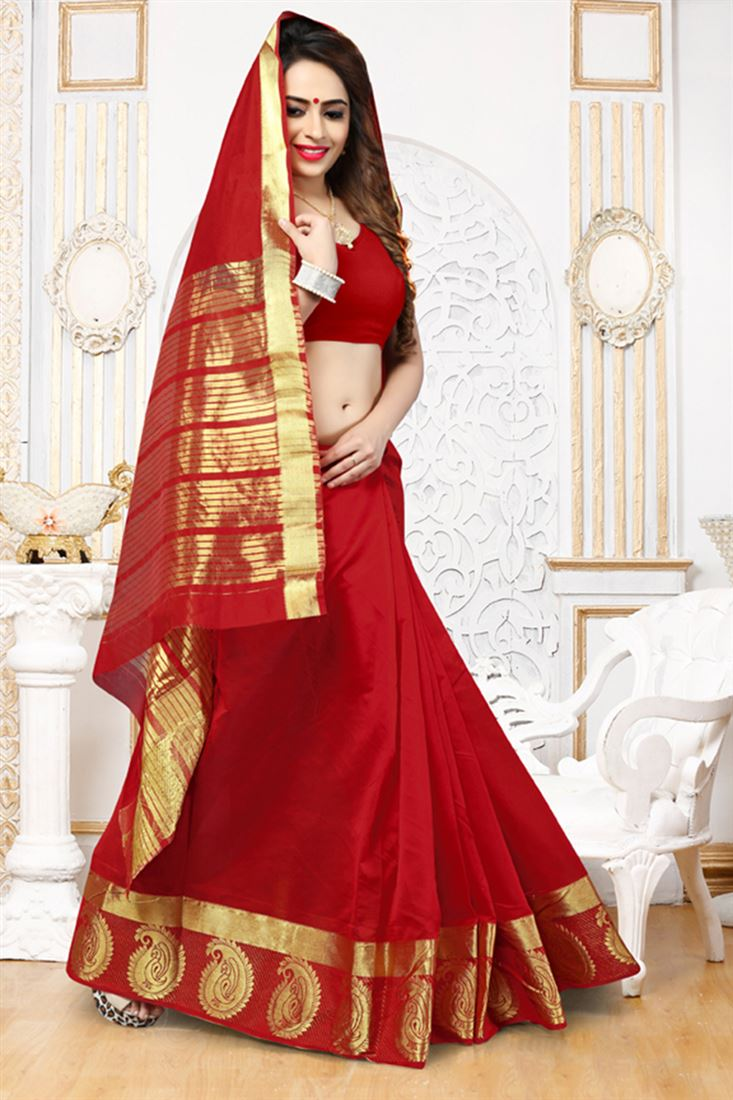 b1855b26566 Blissful-Exclusive-Collection-Of-Red-Silk-Saree-Party-Wear-Sarees -Wholesale-Online-WSM-7709 1.jpg
