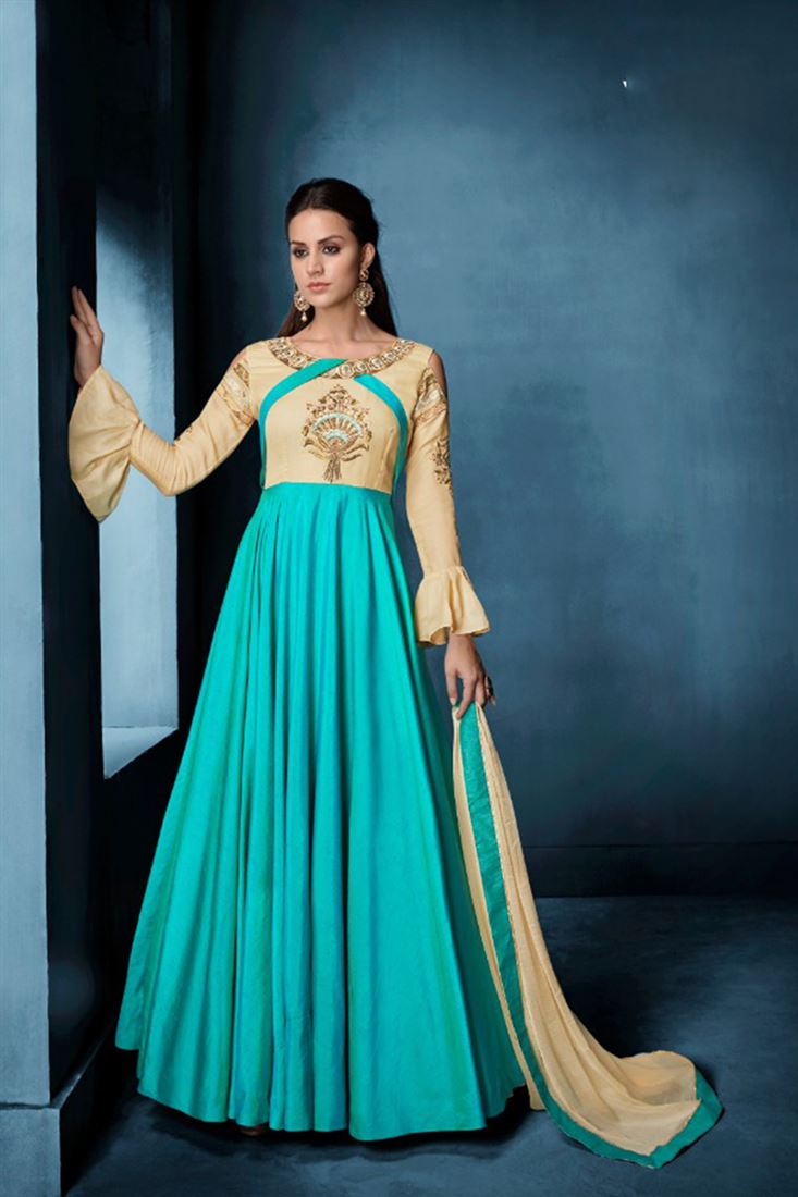 Classy Silk Embroidered Work Full Stitched Salwar Kameez In Hungary