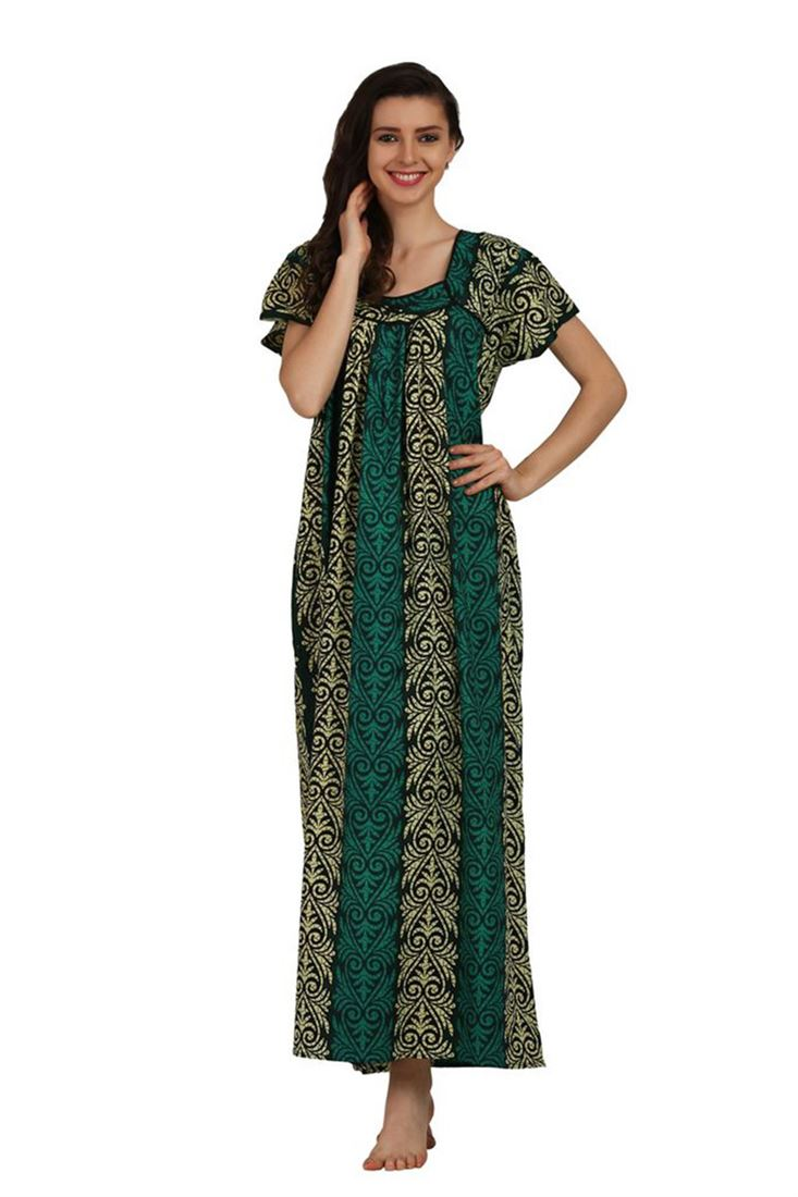 Cotton Printed Night Gowns Wholesale Nighties Maxi Dresses Low Price ...
