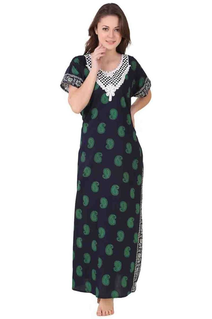 5e729c9b78b Cotton Wholesale Ladies Printed Night Wear One Piece Nighty Manufacturer  Online