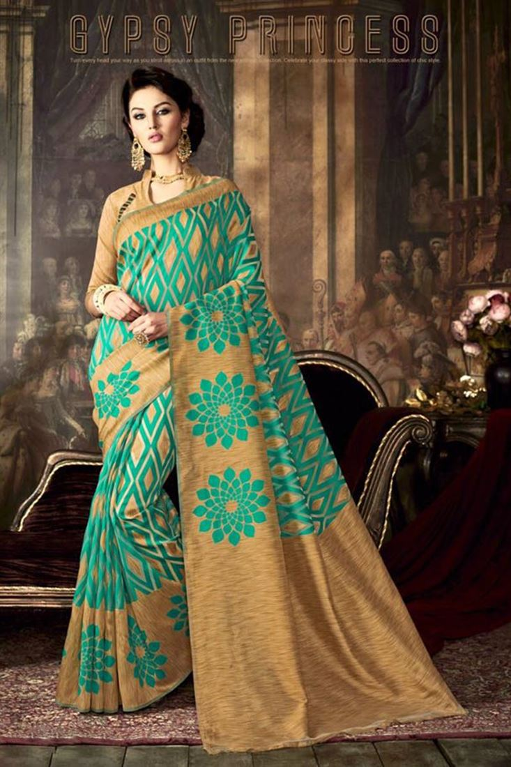 38780c281c Dazzling-Green-Color-Poly-Silk-Party-Wear-Sarees -On-Wholesale-Mantra-WM-9274_1.jpeg