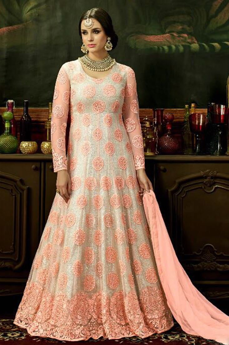 Designer Party Wear Anarkali Indian Dresses Buy In Bulk At Cheap ...