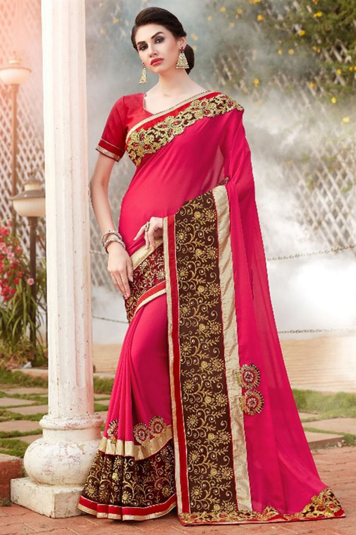 Embroidered Border Fish Cut Style Wholesale Saree Catalogue In India