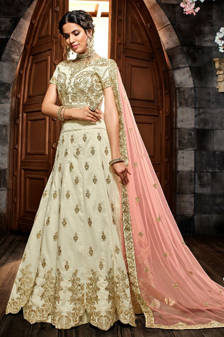 Glamorous Silk Embroidered Work Un Stitched LEHENGA In Andhra Pradesh