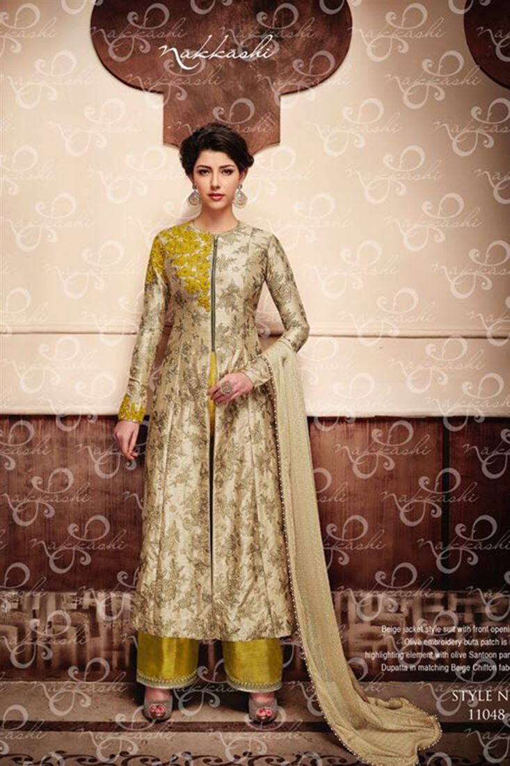 Incredible Georgette Heavy Embroidered Semi Stitched Designer Salwar Kameez