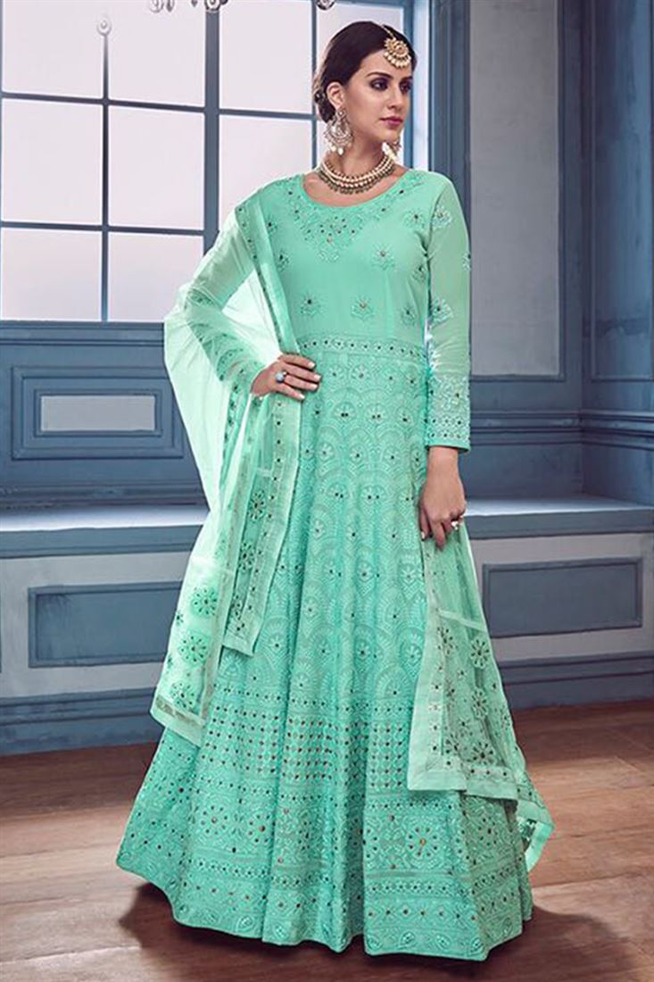Indian Bridal Wedding Wear Anarkali Heavy Suits Collection Online Seller At Lowest Price