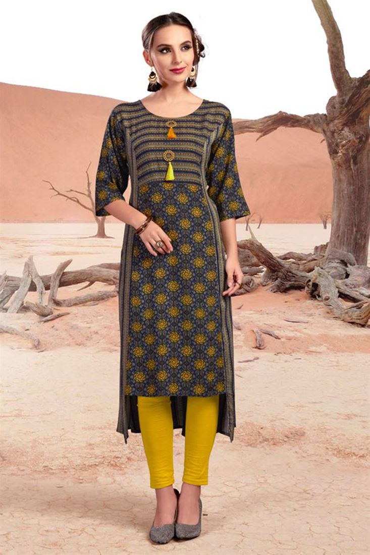936adc030c8 Latest Designs Of Open Slit Kurtis Womens Wholesale Price Indian Kurtis  Manufacturer