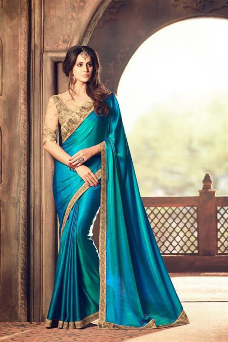 Latest Georgette Silk Wholesale Embroidered Saree Catalogue Supplier In Algeria