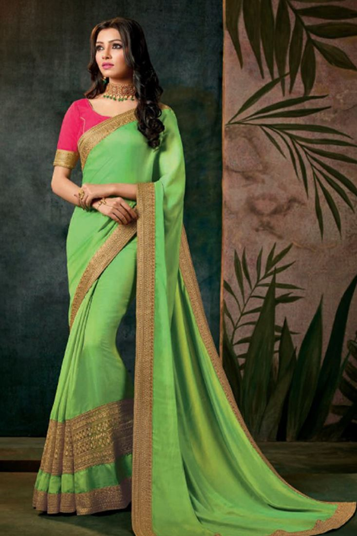 Lovable Georgette Silk Embroidered Work Un Stitched Sarees In Iraq