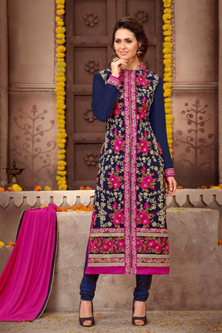 99b69bdcea0 Lovely-Navy-And-Magenta-Heavy-Embroidered-Georgette -Wholesale-Designer-Salwar-Kameez-WM-9740 1.jpg