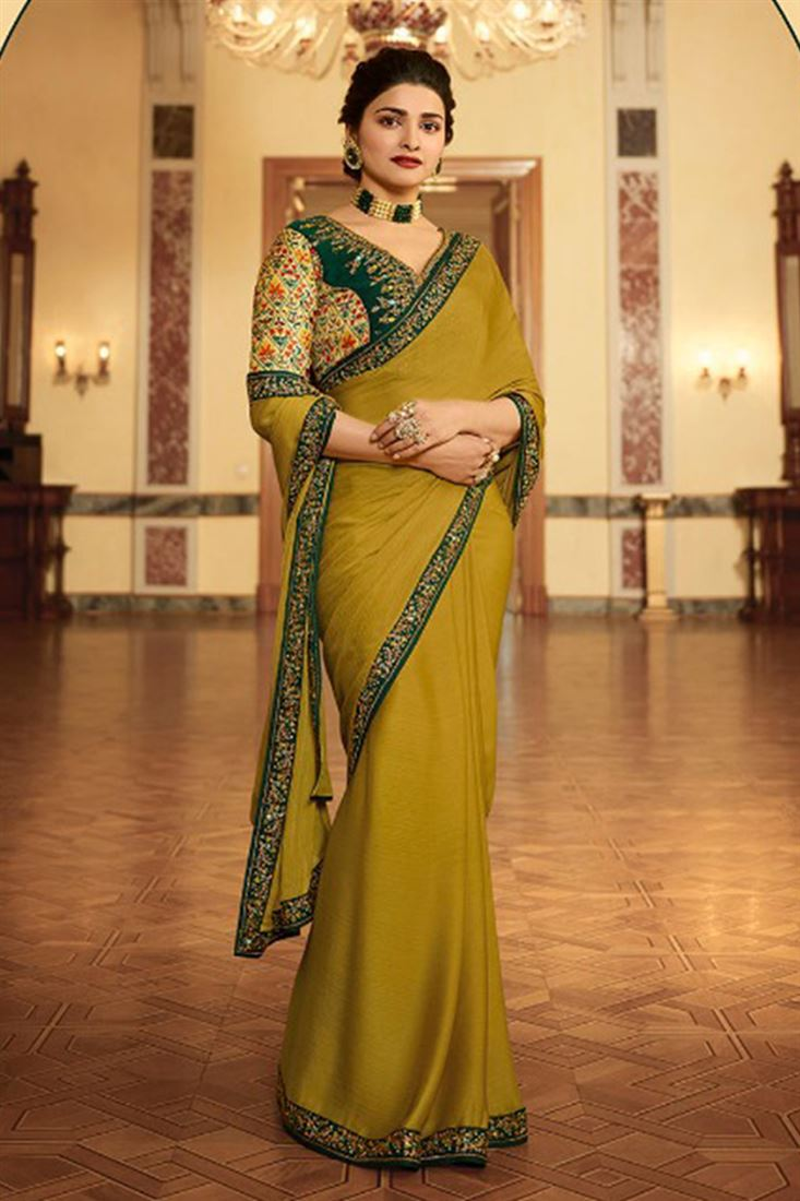 Prachi Desai Bollywood Designer Sarees Collection At Wholesale Price Rates Latest Sarees Catalogs Supplier In Surat