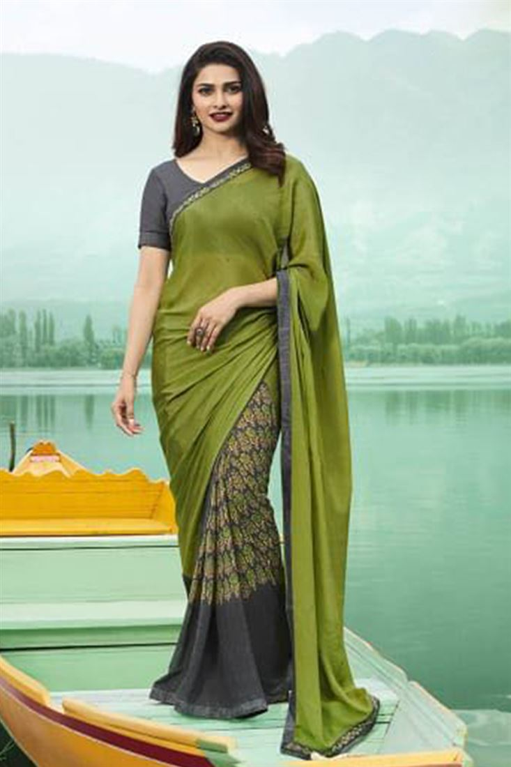 Printed Daily Wear Bollywood Georgette Sarees Catalogue Manufacturer In India
