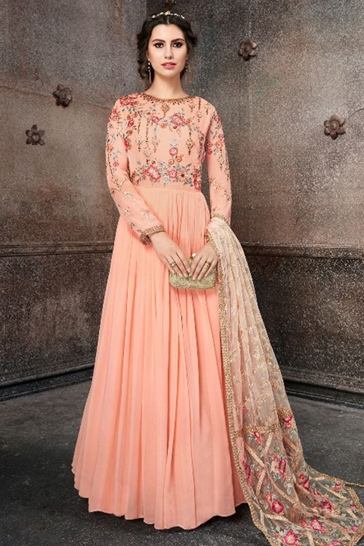 9417eaf8d0 Readymade Girls Party Wear Georgette Anarkali Suits Collection 2018  Supplier From Mumbai Online