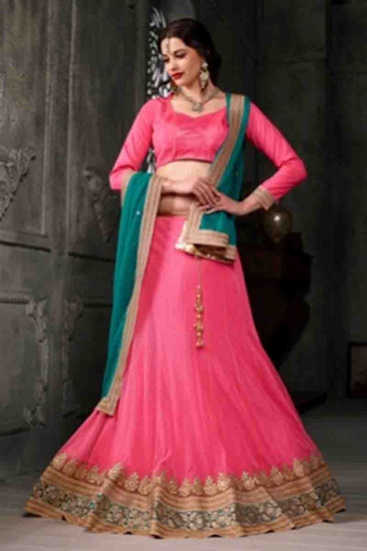 f0cc711592ce5d Stunning-Pink-Heavy-Embroidered-Soft-Net-Bridal-Wear-Lehenga-Choli-With- Blouse-Designs-WM-7740_1.jpg