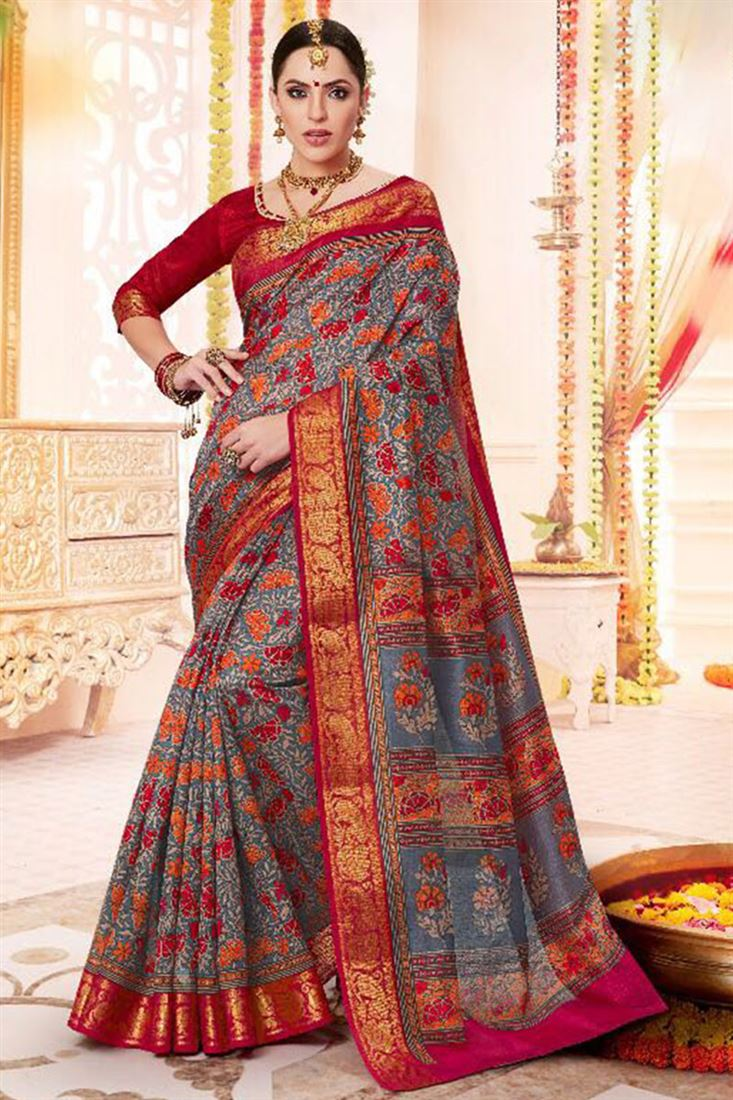 Traditional Banarsi Sarees Buy Online At Cheap Prices Wholesale Sarees And Dress Materials In Surat