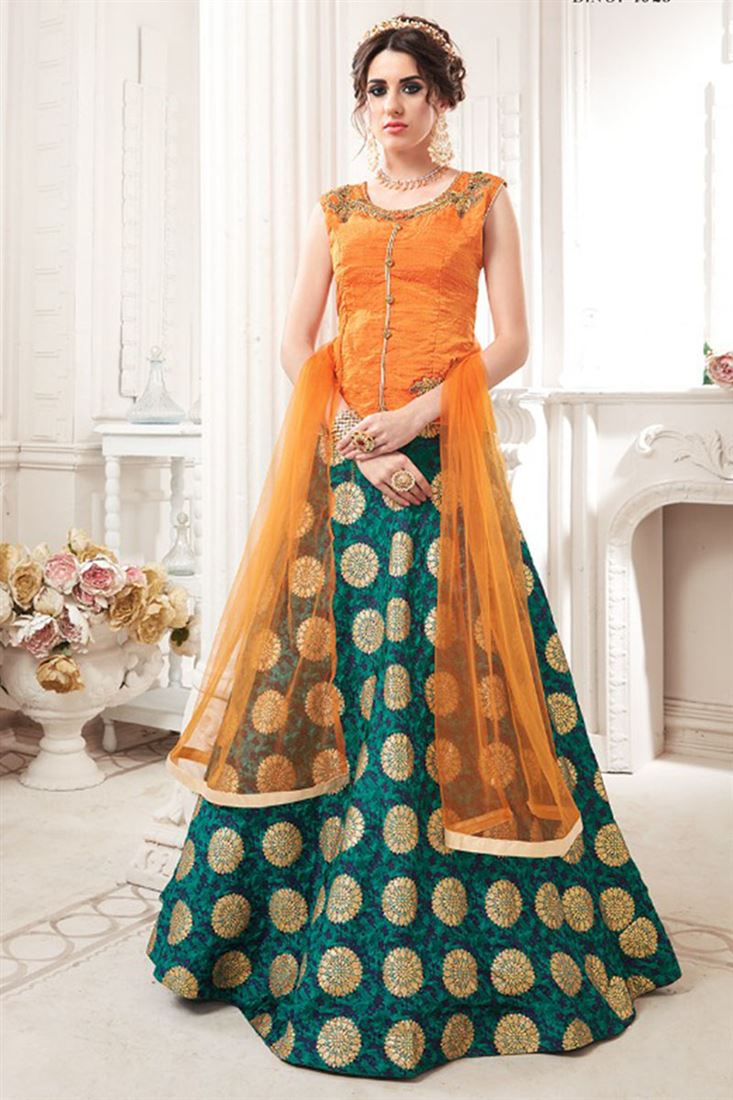 Wedding Special Jacket Style Full Stitched Lehenga Cholis Wholesaler