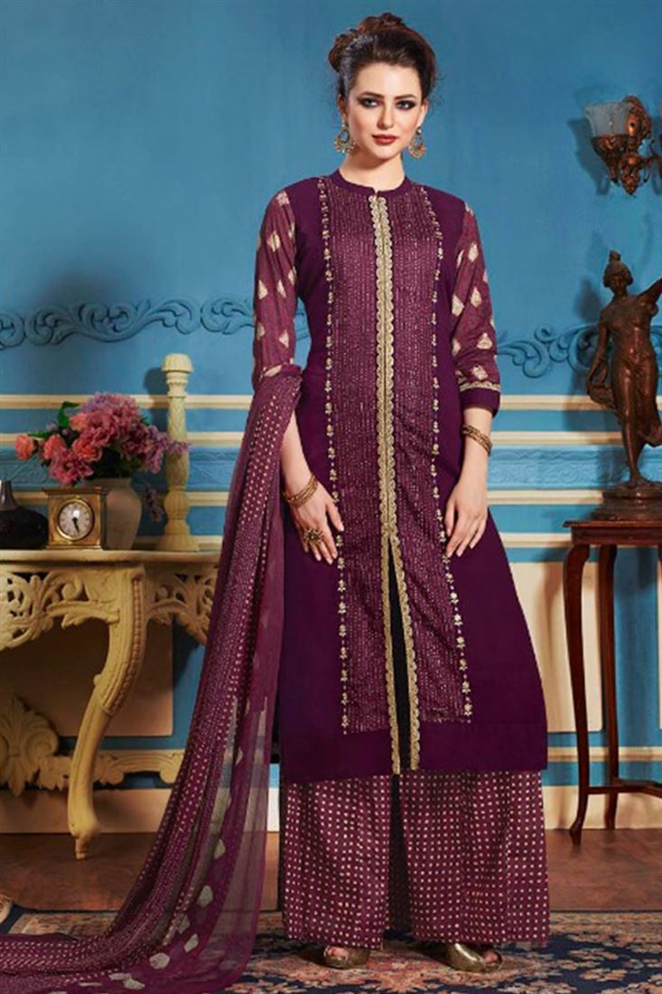 Wholesale Stitched Long Shrara Salwar Kameez Suit Catalog Collection Online