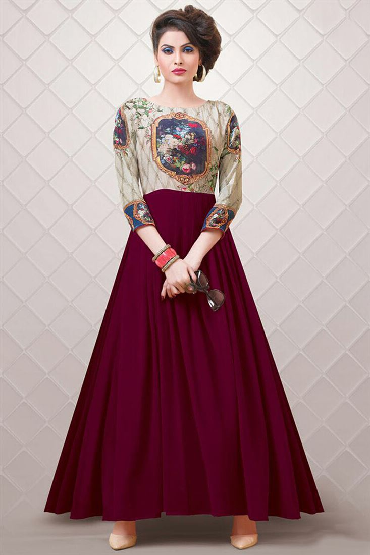 Wholesale Supplier Of Gown Long Quarter Sleeve Designer Gowns Catalogue
