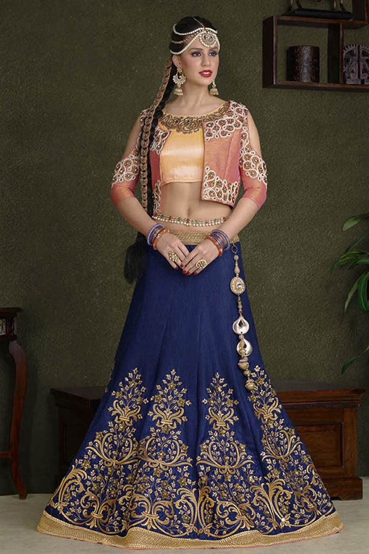 Wholesale Supplier Of Lehenga Choli Heavy Embroidered Silk Designer Lehenga Catalog