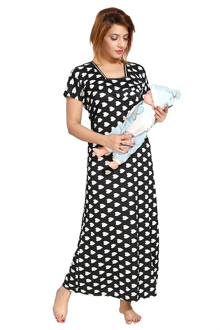 afdc5313749 Womens Hosiery Feeding Nighties Wholesaler Maternity Gowns For Ladies