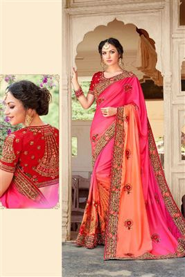 Appealing Silk Georgette Embroidered Work Un Stitched Sarees In Orissa