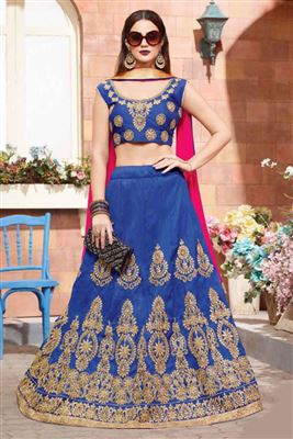 Classy Silk Embroidered Work Un Stitched LEHENGA In Telangana