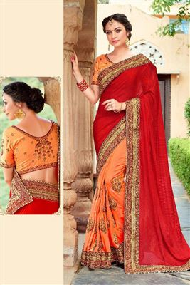 Dazzling Silk Georgette Embroidered Work Un Stitched Sarees In Himachal Pradesh