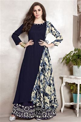 3cd09f8139 Designer Rayon Top With Plazzo Indian Designer Clothes Wholesale In ...