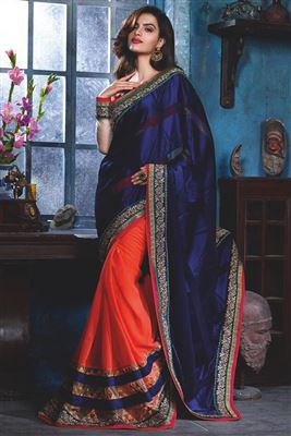 Georgette Sarees With Embroidery Work Wholesale Saree