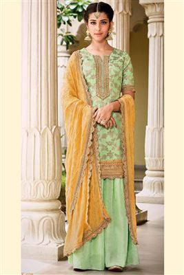 34f78d35fd ... Wedding Special Sharara Palazzo Style Salwar Suits Wholesale. DOWNLOAD  FULL CATALOGUE