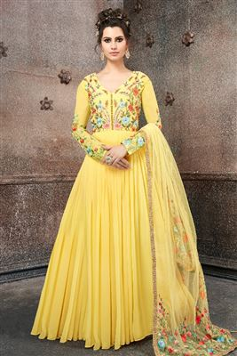 646304a150d Readymade Girls Party Wear Georgette Anarkali Suits Collection 2018 ...
