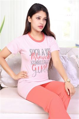 f4b1b11f48 Sleepwear Night Suits For Ladies Cotton Lycra Bright Colors Stretchable Night  Suits