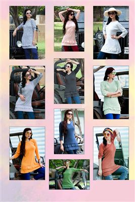 Traditional Cotton Lycra Fabric Wholesale Kurti Catlogs Manufacturer in  Singapore